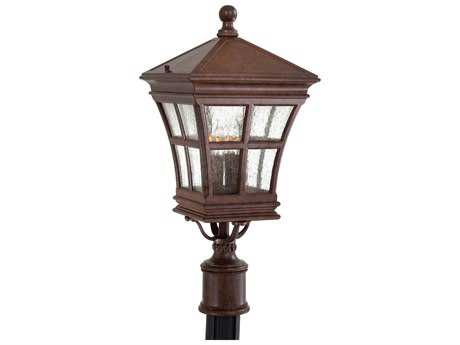 Minka Lavery Mission Bay Antique Bronze Four-Light Outdoor Post Light