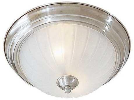 Minka Lavery Brushed Nickel 13.5'' Wide Two-Light Incandescent Flush Mount Light