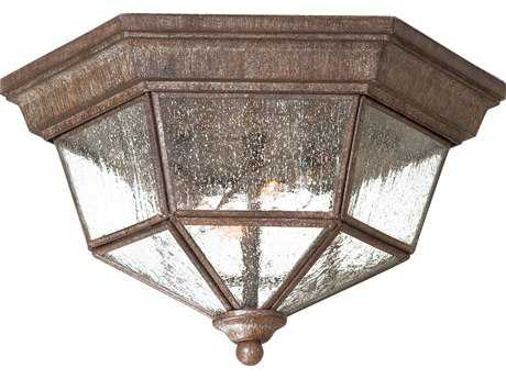Minka Lavery Taylor Court Vintage Rust Two-Light Outdoor Ceiling Light