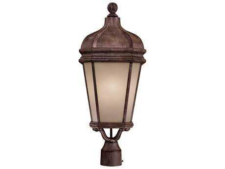 Minka Lavery Harrison Vintage Rust Outdoor Post Light