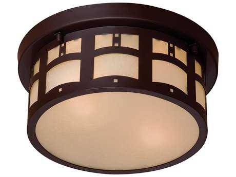 Minka Lavery Harveston Manor Dorian Bronze Two-Light Outdoor Ceiling Light