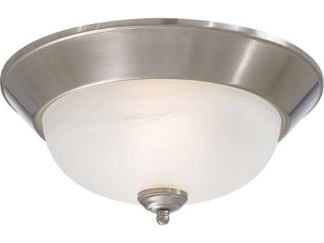 Minka Lavery Brushed Nickel 13.5'' Wide Two-Light Flush Mount Light