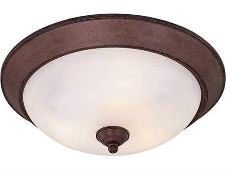 Minka Lavery Antique Bronze 15.5'' Wide Three-Light Flush Mount Light