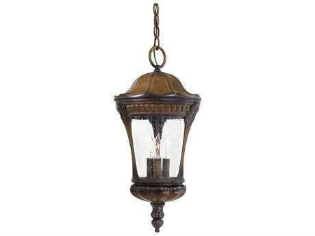 Minka Lavery Kent Place Prussian Gold Three-Light Outdoor Hanging Light