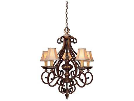 Minka Lavery Belcaro Walnut 28'' Wide Five-Light Chandelier