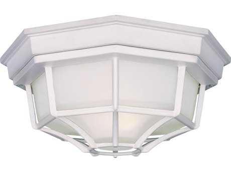 Minka Lavery White Outdoor Ceiling Light