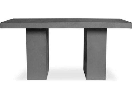 Moe's Home Outdoor Dark Grey 35'' Wide Concrete Rectangular Dining Table PatioLiving