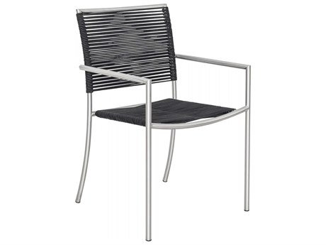 Moe's Home Outdoor Grey Steel Dining Chair (Set of 4)