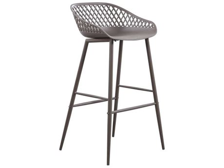 Moe's Home Outdoor Piazza Outdoor Bar Stool Grey (Set of 2) PatioLiving