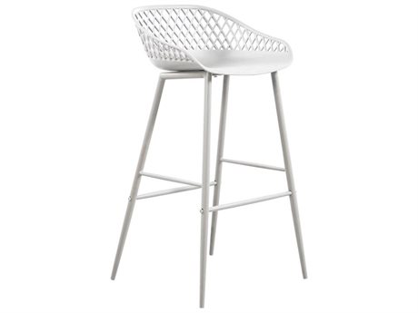 Moe's Home Outdoor Piazza White Recycled Plastic Bar Stool