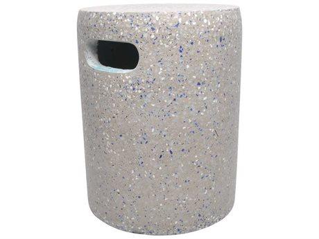 Moe's Home Outdoor Pillar Cement Stool Grey
