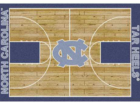 Milliken College Home Court North Carolina Tar Heels Rectangular Rug