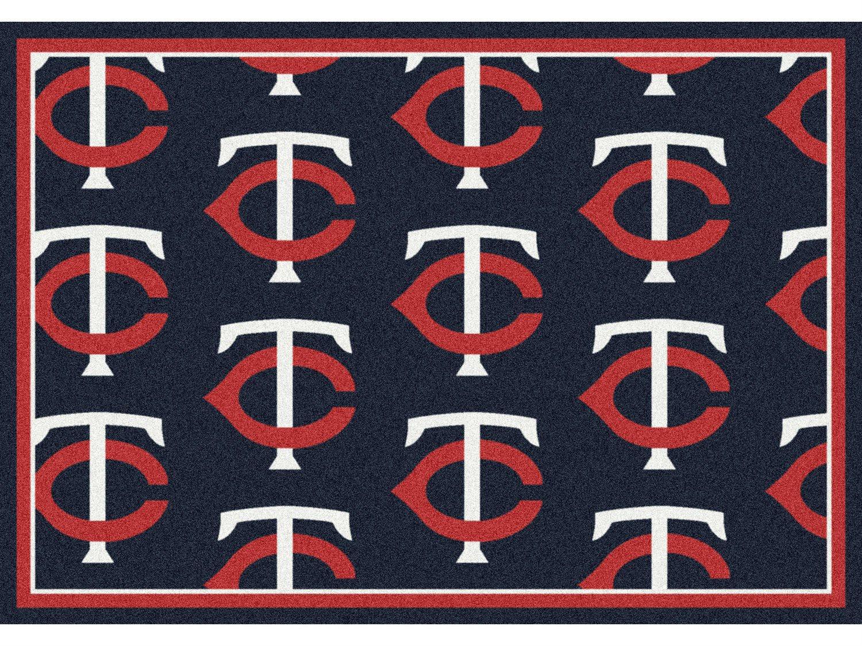 Milliken Mlb Team Repeat Minnesota Twins Rectangular Rug