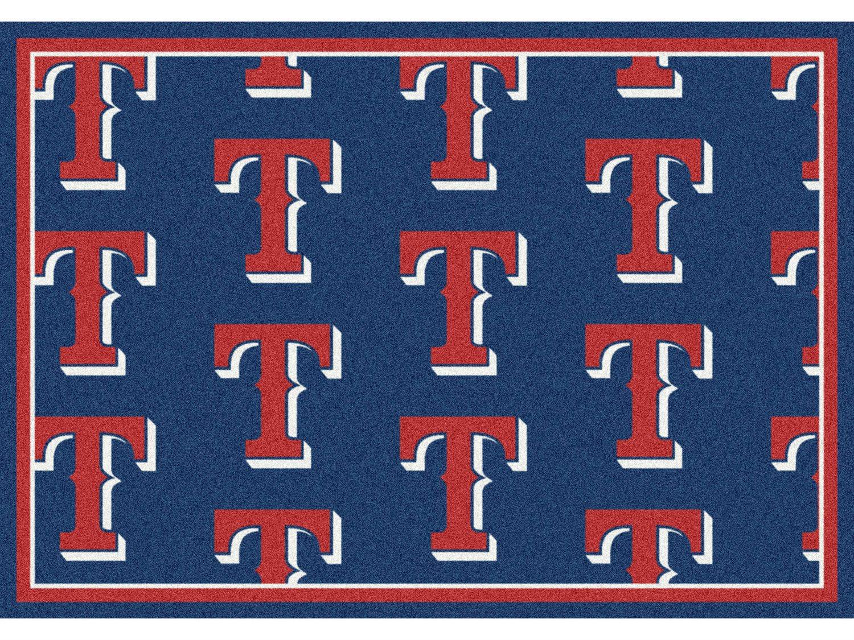 Milliken Mlb Team Repeat Texas Rangers Rectangular Rug