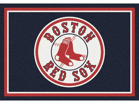 Milliken MLB Team Spirit Boston Red Sox Rectangular Rug