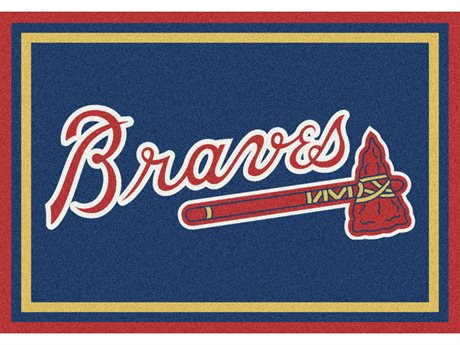 Milliken MLB Team Spirit Atlanta Braves Rectangular Rug