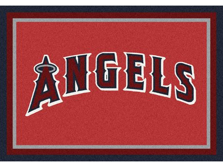 Milliken MLB Team Spirit Los Angeles Angels Rectangular Rug