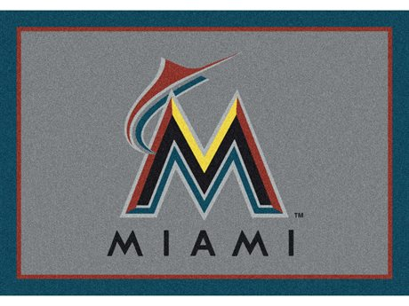 Milliken MLB Team Spirit Miami Marlins Rectangular Rug