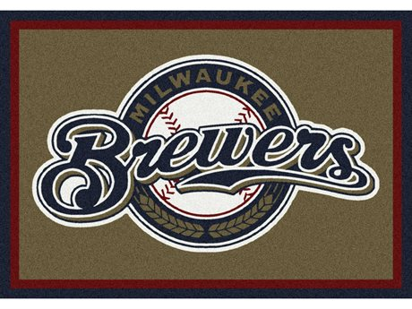 Milliken MLB Team Spirit Milwaukee Brewers Rectangular Rug