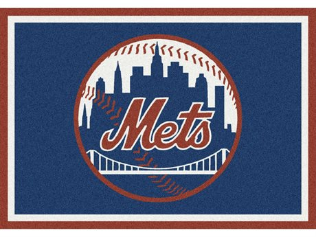 Milliken MLB Team Spirit New York Mets Rectangular Rug