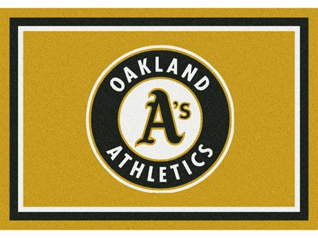 Milliken MLB Team Spirit Oakland Athletics Rectangular Rug