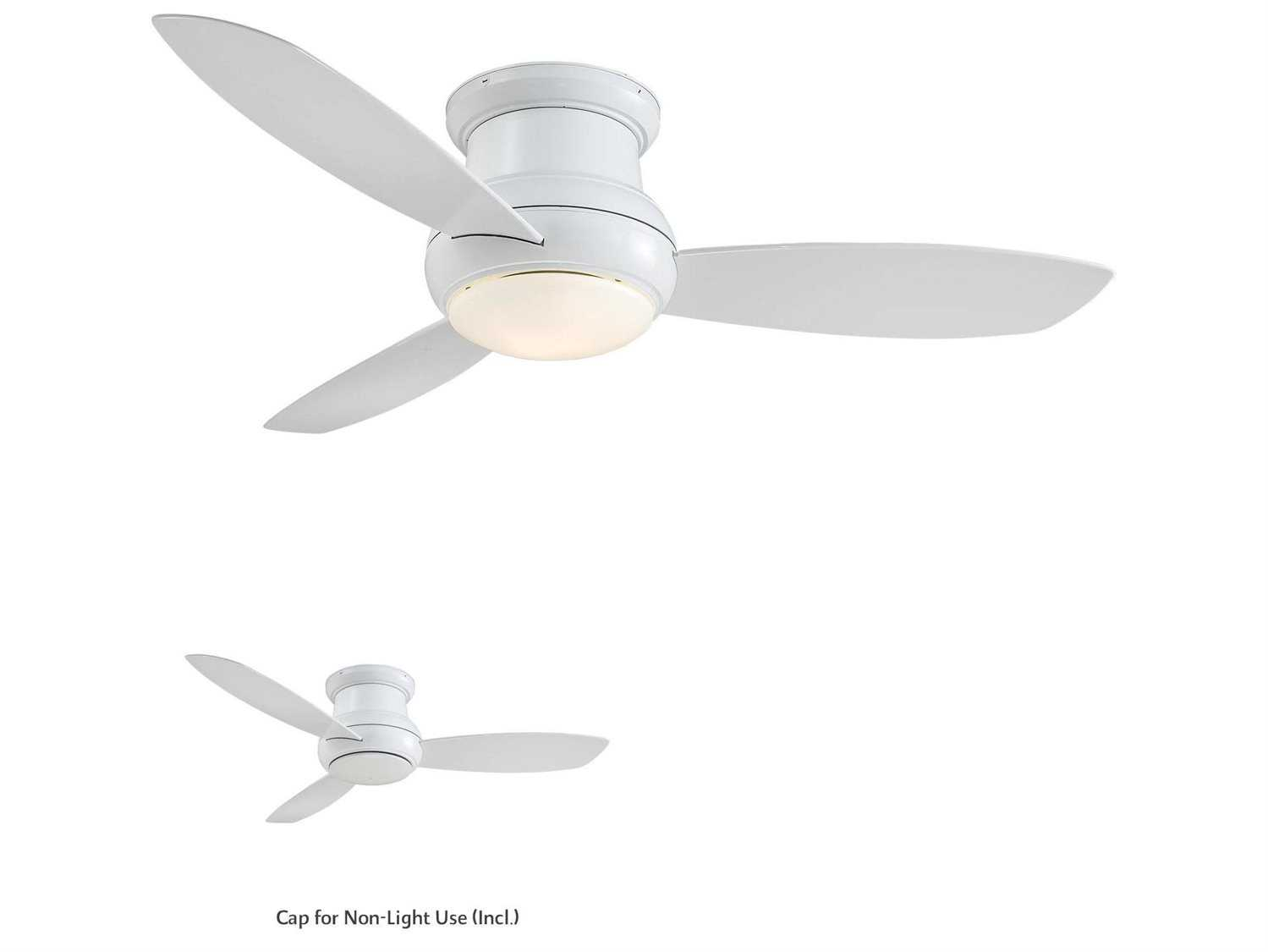 Minka-Aire Concept II Wet White 52'' Wide Outdoor Ceiling