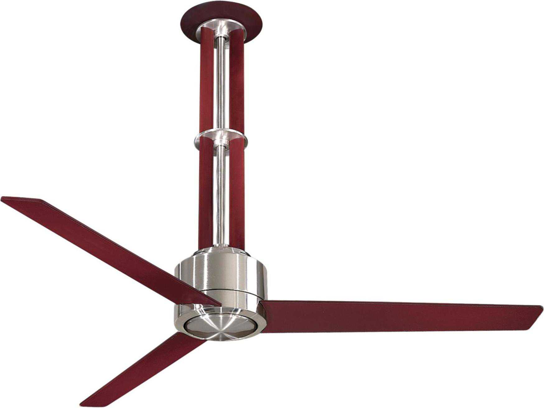 Minka aire flyte brushed nickel mahogany 56 wide indoor ceiling shown with light cap aloadofball Images