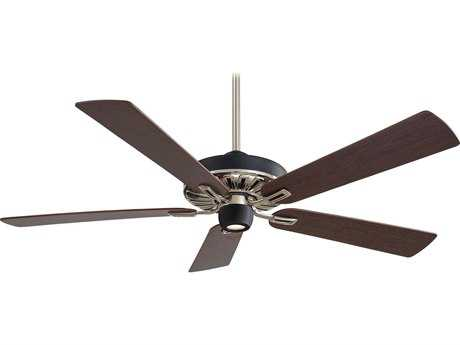 Minka-Aire Iconic Matte Black & Brushed Nickel 60'' Wide Indoor Ceiling Fan