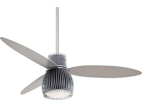 Minka-Aire Uchiwa Black & Chrome 56'' Wide Indoor Ceiling Fan