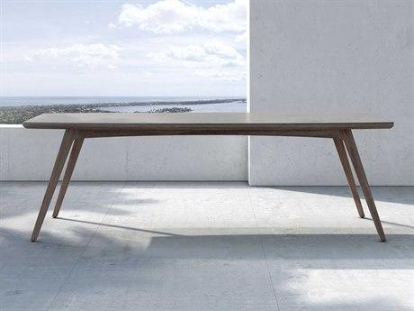 Modloft Outdoor Liam Weathered Eucalyptus 94'' Wide Wood Rectangular Dining Table PatioLiving
