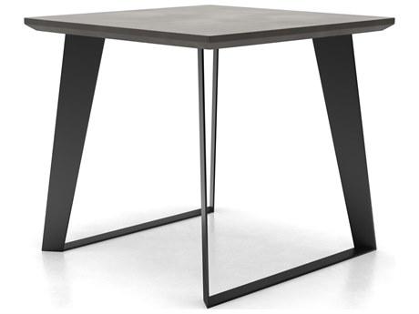 Modloft Outdoor Amsterdam Gray Concrete 24'' Wide Square End Table PatioLiving