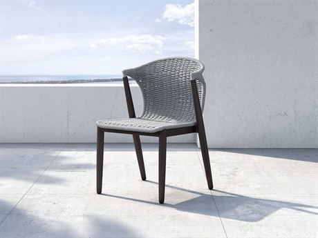 Modloft Outdoor Embras Light Gray Cord Dining Side Chair (Sold in 2) PatioLiving