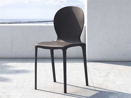 Modloft Outdoor Vieste Anthracite Recycled Plastic Dining Chair