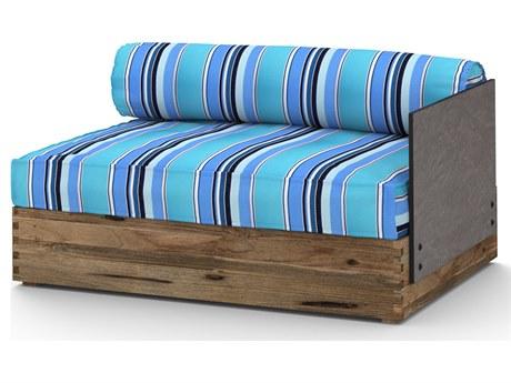Mamagreen Aiko Teak Cushion Modular Left Arm Lounge Chair