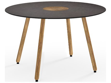 Mamagreen Bono Teak 50''Wide Round Dining Table