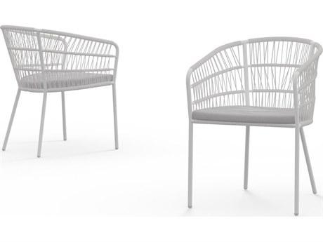 Mamagreen Bono Aluminum Cushion Dining Arm Chair