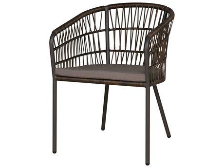 Mamagreen Bono Aluminum Cushion Dining Arm Chair (Quick Ship)
