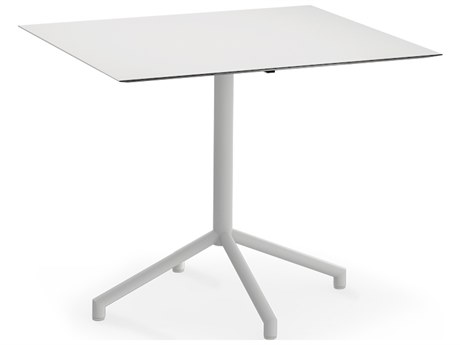 Mamagreen Caffe Stainless Steel 35''Wide Square Bistro Table
