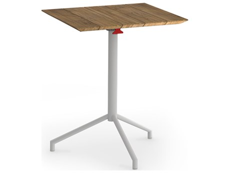 Mamagreen Caffe Stainless Steel 26''Wide Square Bistro Table