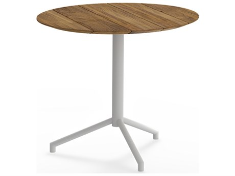 Mamagreen Caffe Stainless Steel 33''Wide Round Bistro Table
