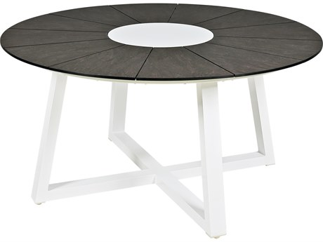 Mamagreen Baia Aluminum 59''Wide Round Dining Table
