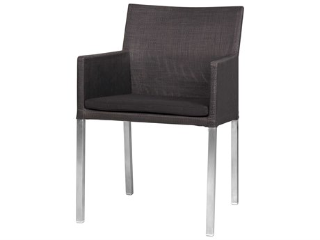 Mamagreen Tajax Steel Cushion Dining Arm Chair
