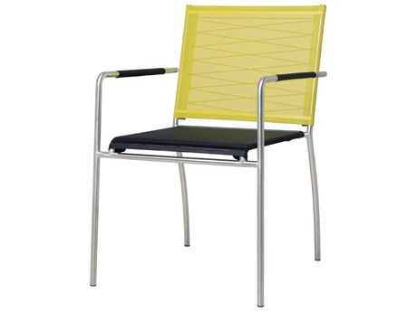 Mamagreen Natun Steel Sling Stackable Dining Arm Chair