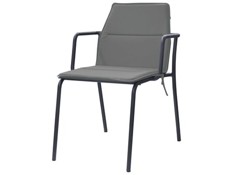 Mamagreen Manda Aluminum Stackable Dining Arm Chair