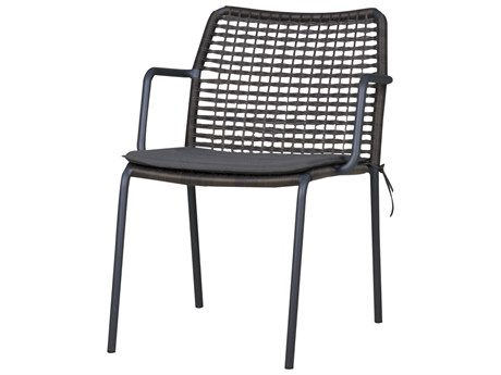 Mamagreen Manda Aluminum Wicker Stackable Dining Arm Chair