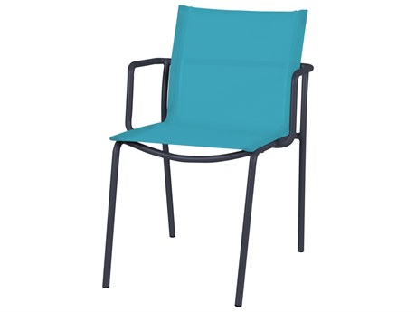 Mamagreen Manda Aluminum Sling Stackable Dining Arm Chair