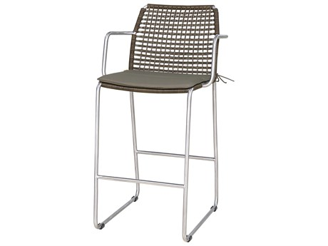 Mamagreen Manda Steel Wicker Bar Arm Stool