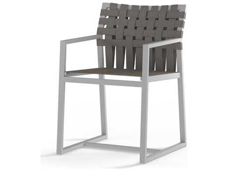 Mamagreen Ekka Aluminum Sling Carver Dining Arm Chair