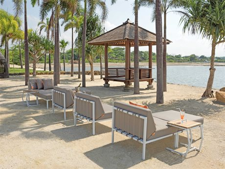 Mamagreen Polly Aluminum Steel Cushion Lounge Set