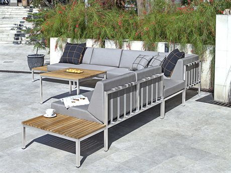 Mamagreen Polly Aluminum Steel Cushion Lounge Set